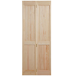 4 Panel Clear Pine Internal Bi-Fold Door, (H)1981mm