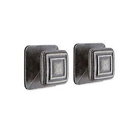 IT Kitchens Pewter Effect Square Cabinet Knob (L)28mm,