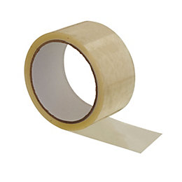B&Q Clear Packaging Tape (L)50M (W)50mm