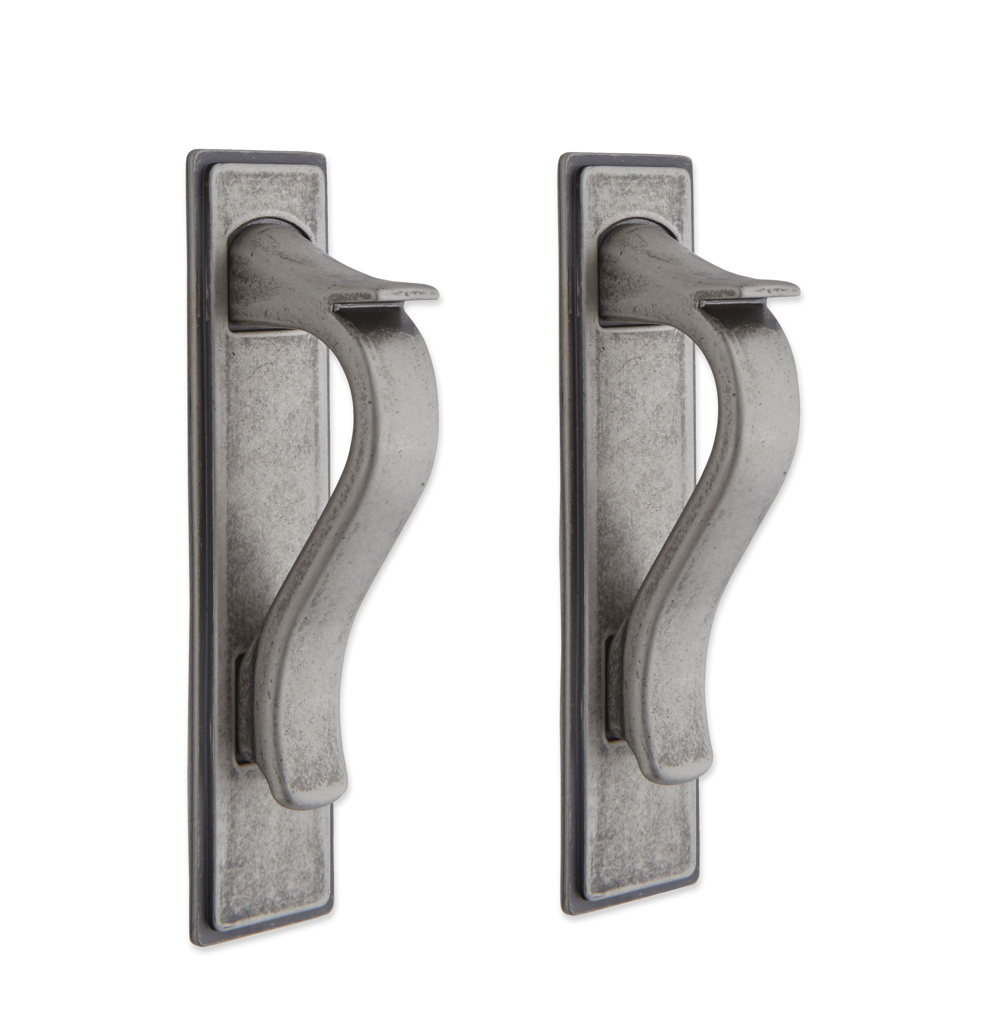 it kitchens antique pewter effect d shaped cabinet handle pack of