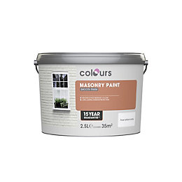 Colours Pure Brilliant White Matt Masonry Paint 2.5L