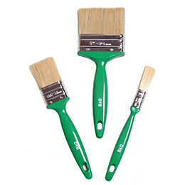 "Diall Woodstain Brush (W)½"", 1½"", 3"", Set of"
