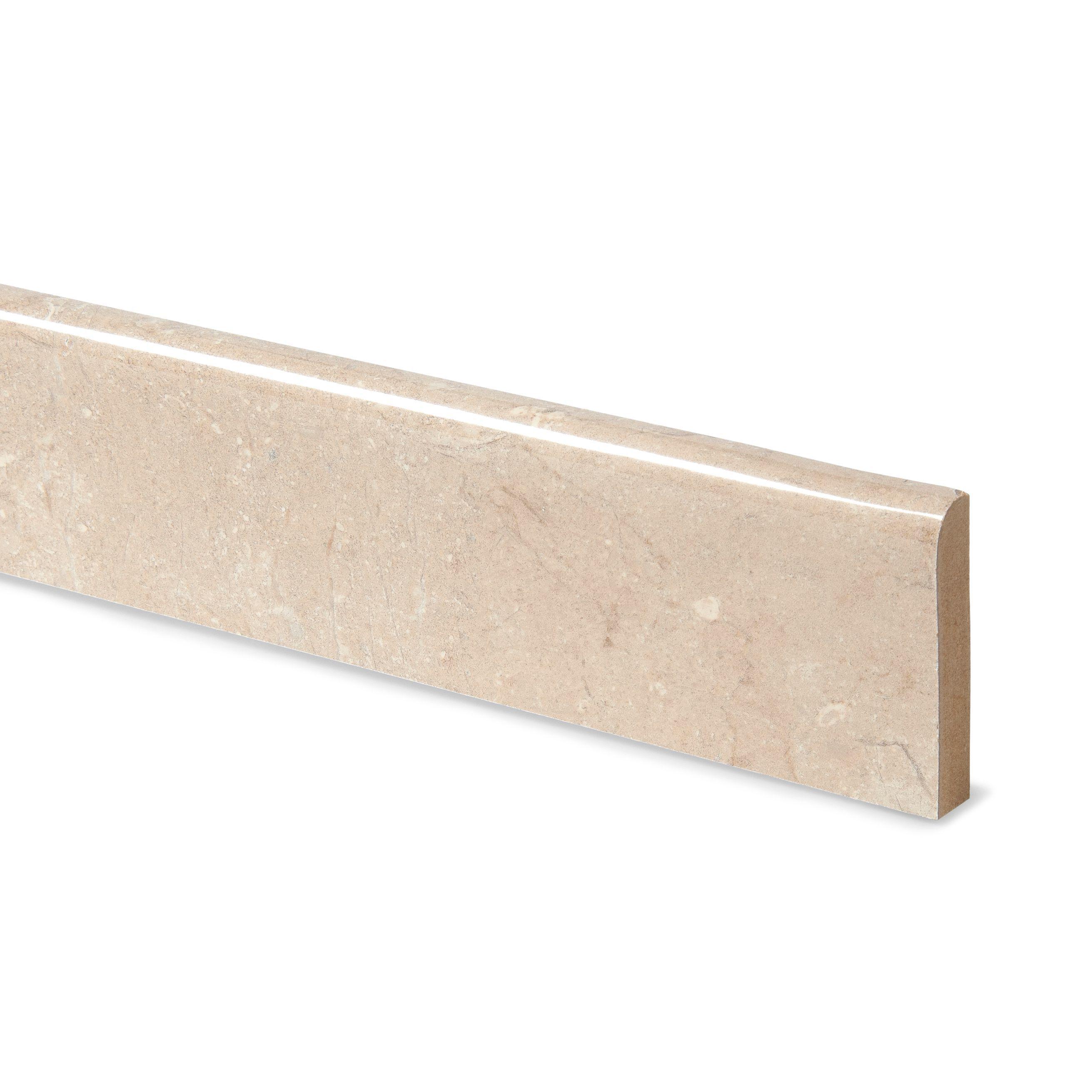 12mm travertine beige laminate upstand departments - Laminat beige ...