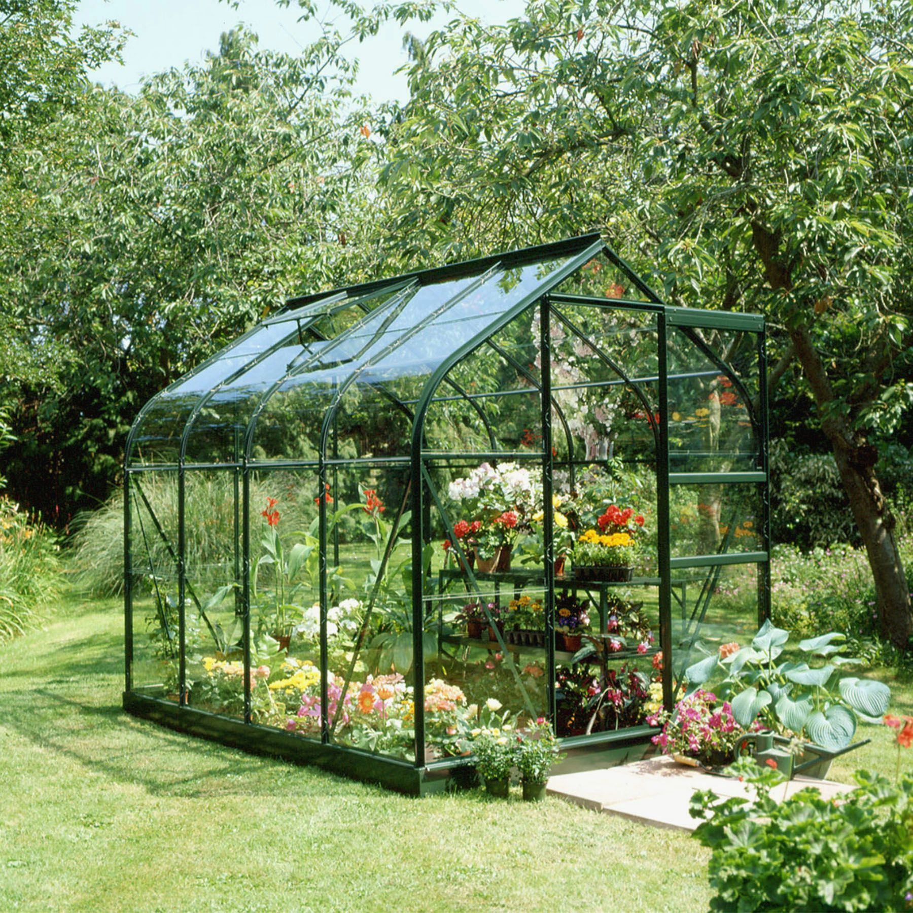 B Amp Q Metal 6x8 Horticultural Glass Greenhouse Departments