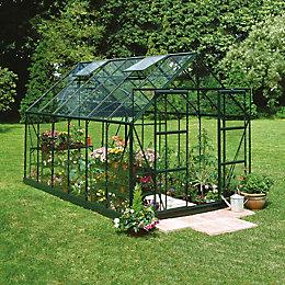 Green B&Q 8X10 Horticultural Glass Greenhouse
