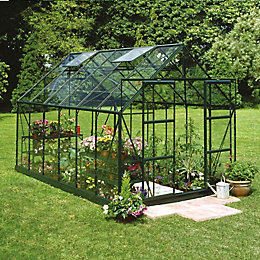 Green B&Q 8X14 Horticultural Glass Greenhouse