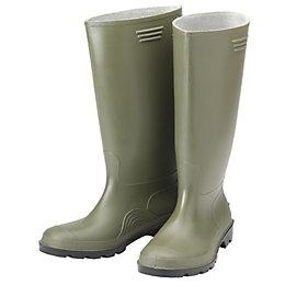 B&Q Green Wellington Boots, Size 5