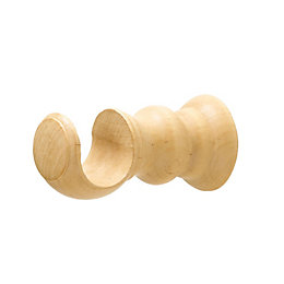 Colours Modern Beech Effect Wood Curtain Pole Bracket
