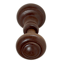 Colours Walnut Effect Curtain Hold Backs, Pack of
