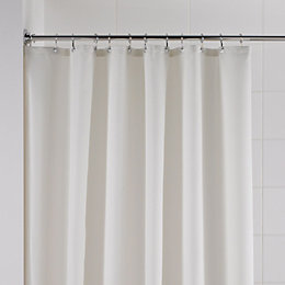 B&Q Cream Waffle Shower Curtain (L)1.8 M