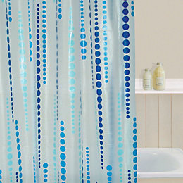 B&Q Aqua Beads Shower Curtain (L)1.8 M