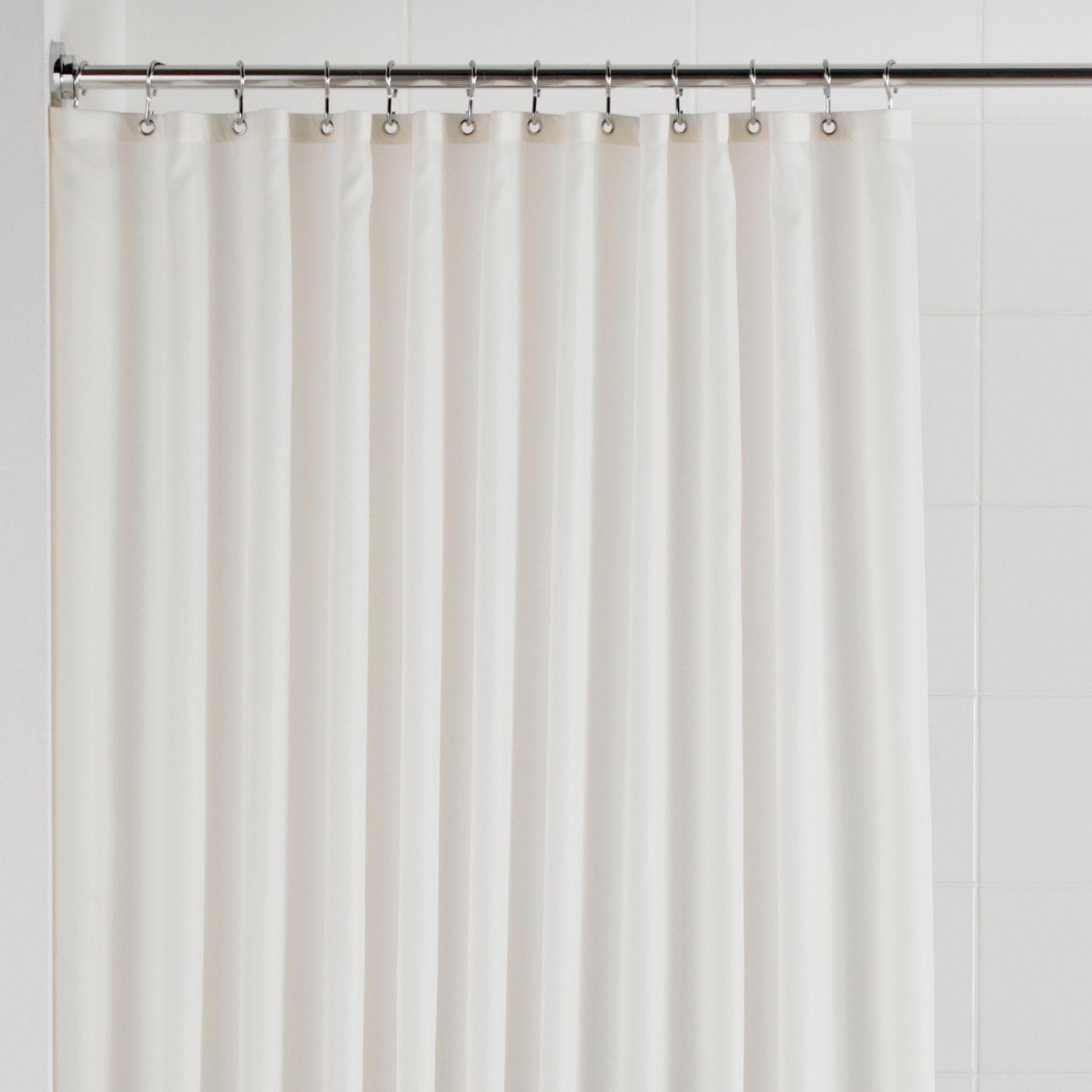 BQ Cream Plain Shower Curtain L1800 Mm