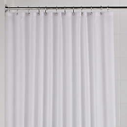 B&Q White Plain Shower Curtain (L)1.8 M