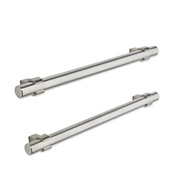 Brushed Nickel Effect Bar Cabinet Handle, Pack of