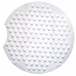 White Rubber Anti-Slip Bath Mat (L)550mm (W)550mm