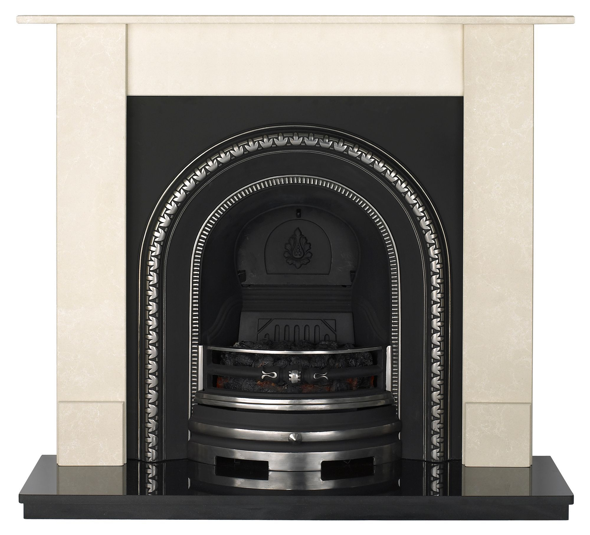 Aurora Dorchester Black Remote Control Electric Fire Suite