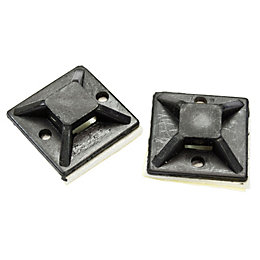 B&Q Black 20mm Cable Mounts, Pack of 50