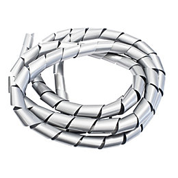 B&Q White Plastic Spiral Cable Tidy