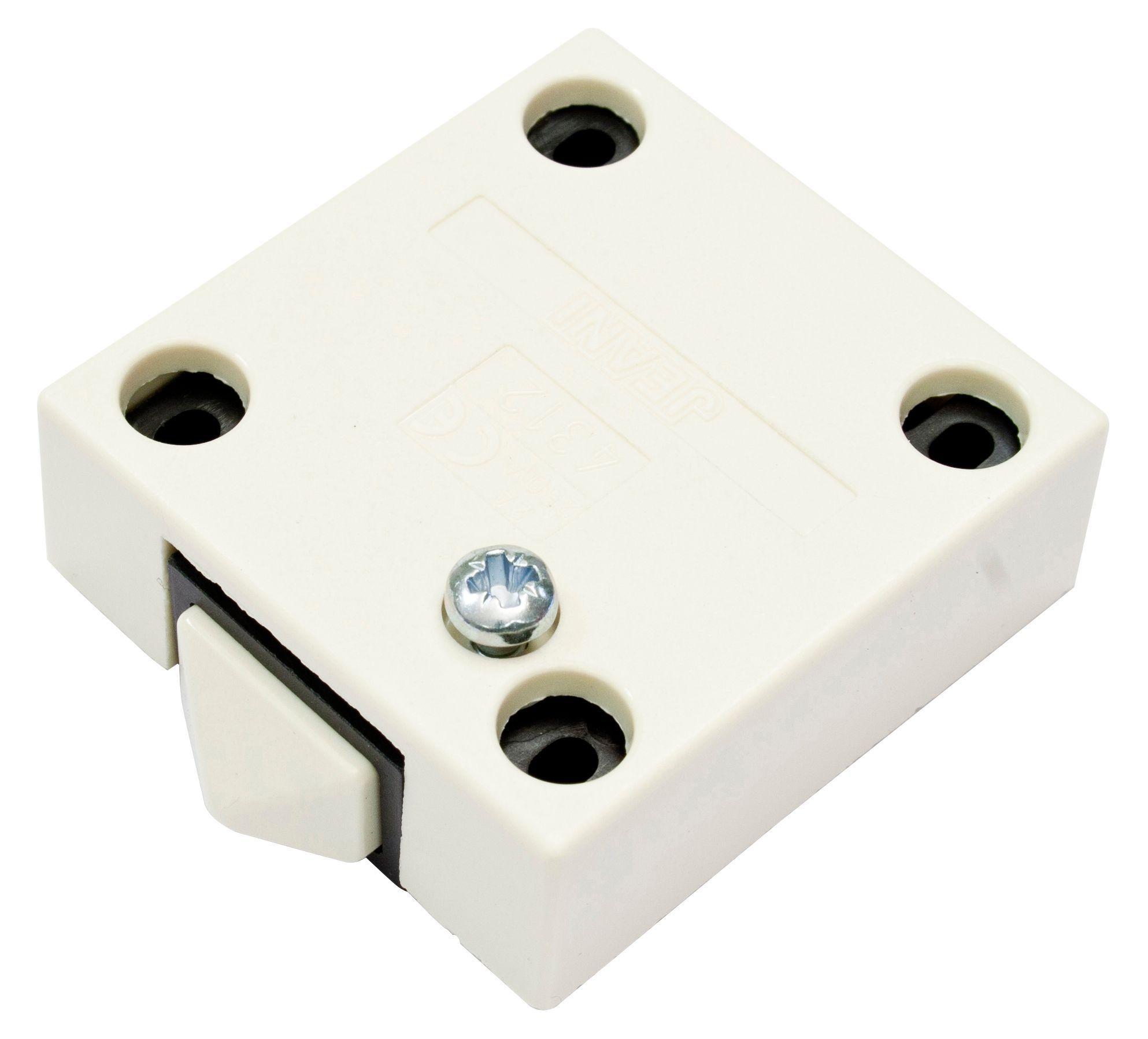 B&Q Cream Door Operated Cabinet Switch