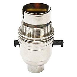 B&Q Nickel Effect Brass Lampholder