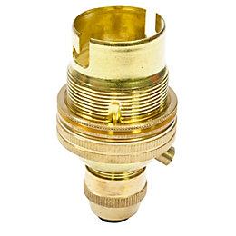 B&Q Brass Lampholder