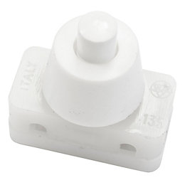 B&Q 1-Way Single White Press Switch