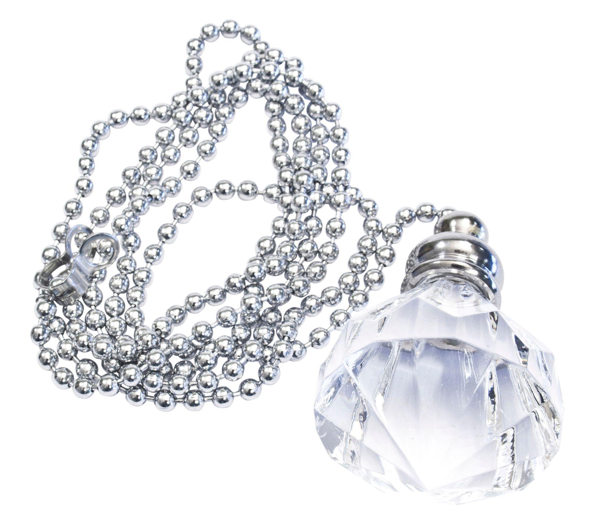 Bathroom Light Switches B&Q b&q silver diamond crystal effect acrylic light pull | departments