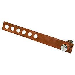 B&Q Copper Connecting Strap, Pack of 5