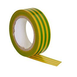B&Q Green & Yellow Electrical Tape (L)10M