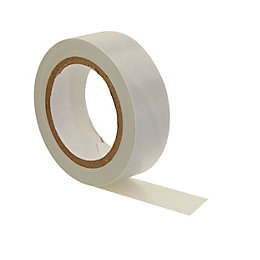 B&Q White Insulating Tape (L)10m