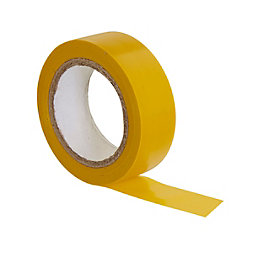 B&Q Yellow Insulating Tape (L)10m