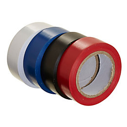 B&Q Black, Blue, Red & White Insulating Tape