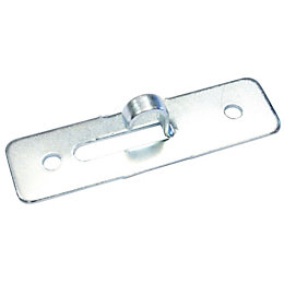 B&Q Nickel Effect Steel Suspension Bracket