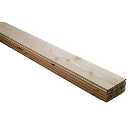 Timber Cladding Smooth Cladding (T)7.5mm (W)95mm (L)2400mm, Pack