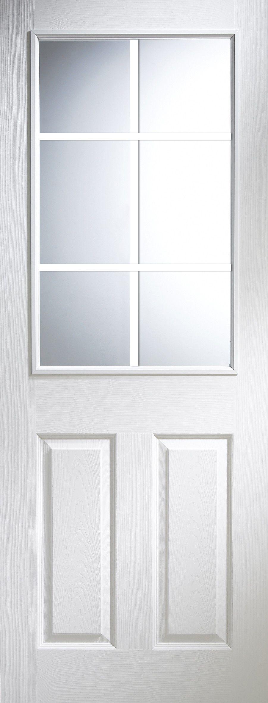 6 panel primed smooth internal unglazed door h 1981mm w. Black Bedroom Furniture Sets. Home Design Ideas