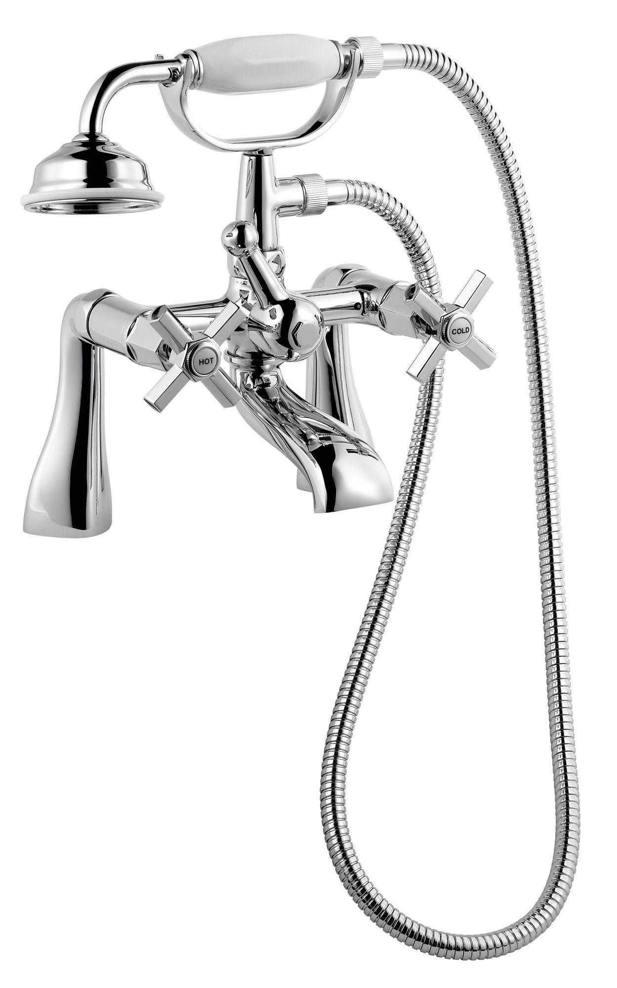 B&Q Deco Chrome Bath Shower Mixer Tap | Departments | DIY ...