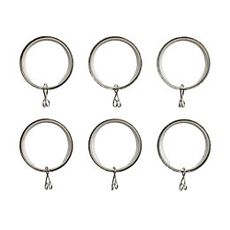Colours Nickel Effect Metal Curtain Ring (Dia)28mm, Pack