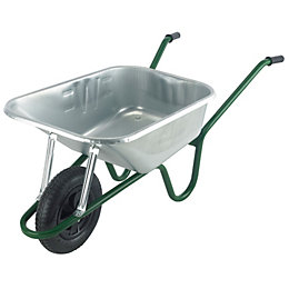 Walsall Premier Plus Silver 120L Wheelbarrow