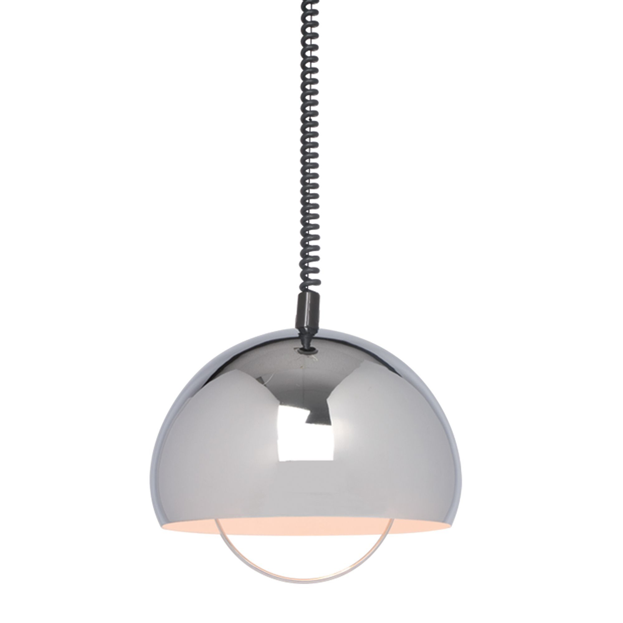 Zodiac Dome Chrome Effect Pendant Ceiling Light
