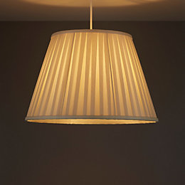 Colours Cream Pleated Light Shade (D)410mm