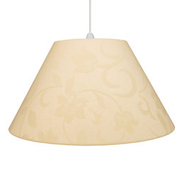 Colours Belgravia Cream Damask Jacquard Light Shade (D)45cm