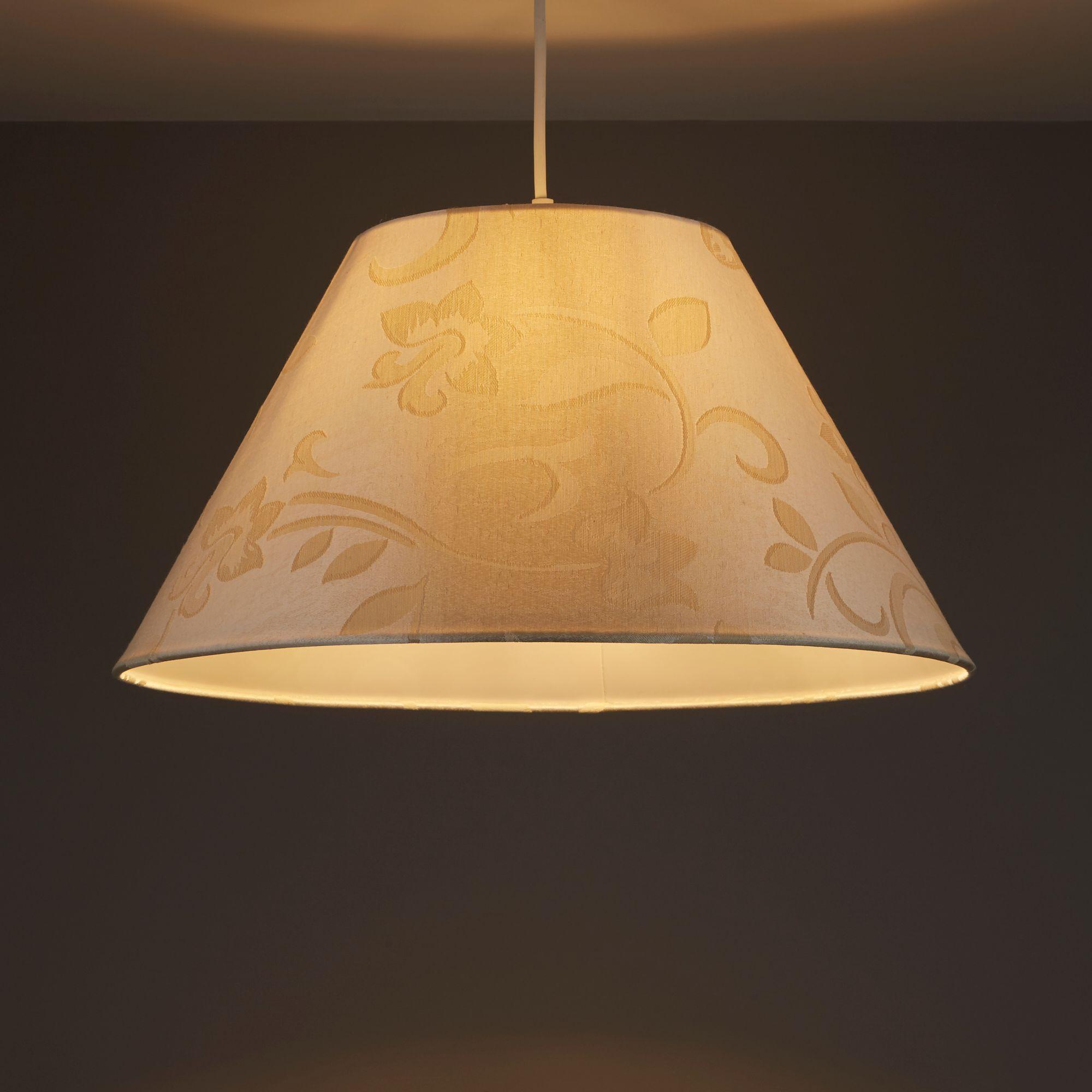 Colours Belgravia Cream Damask Jacquard Light Shade (d)450mm