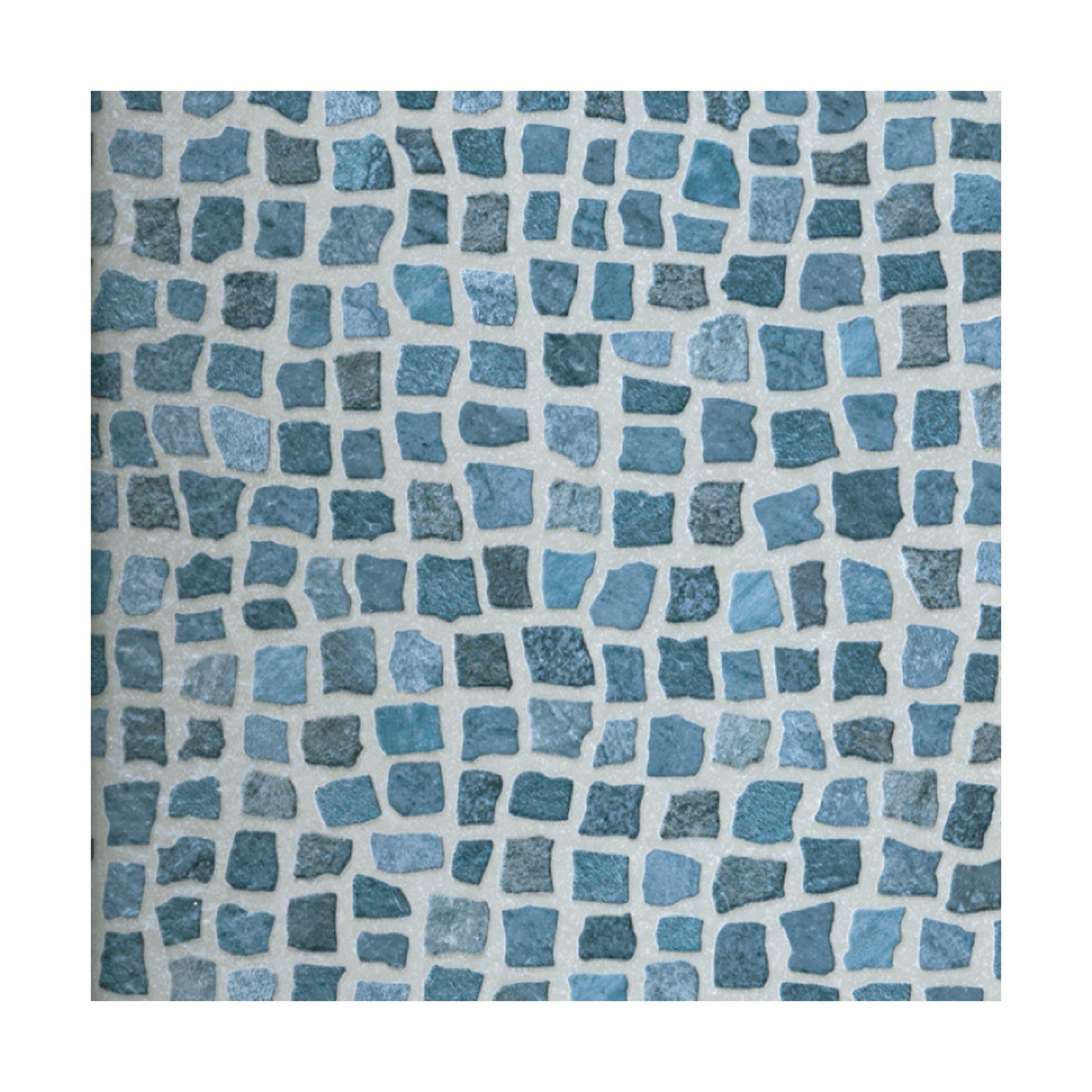 Colours tadorna dark blue mosaic effect self adhesive for Blue vinyl flooring bathroom