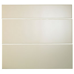 Cooke & Lewis Raffello High Gloss Cream Slab