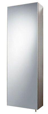 Cavalier bathroom furniture - B Q Fonteno Single Door Silver Tall Mirror Cabinet Departments Diy At B Q