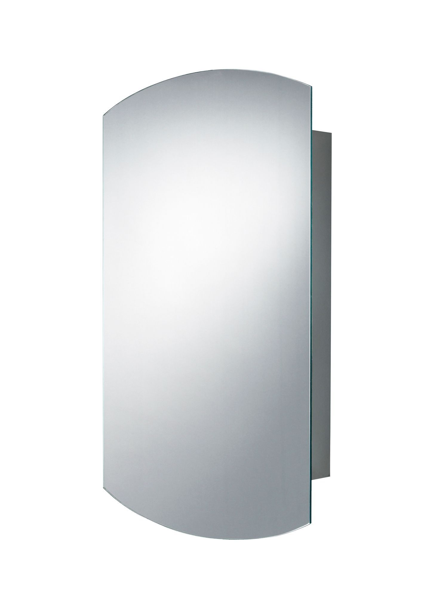 bq fonteno single door silver mirror cabinet