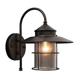 Vincent Black Mains Powered External Wall Lantern