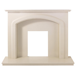 Cameo Cream Micro Marble Fire Surround Set