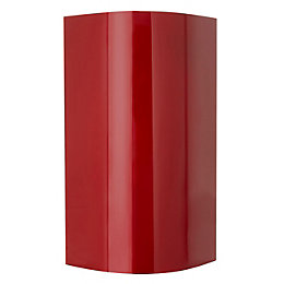 Cooke & Lewis High Gloss Red External Curved