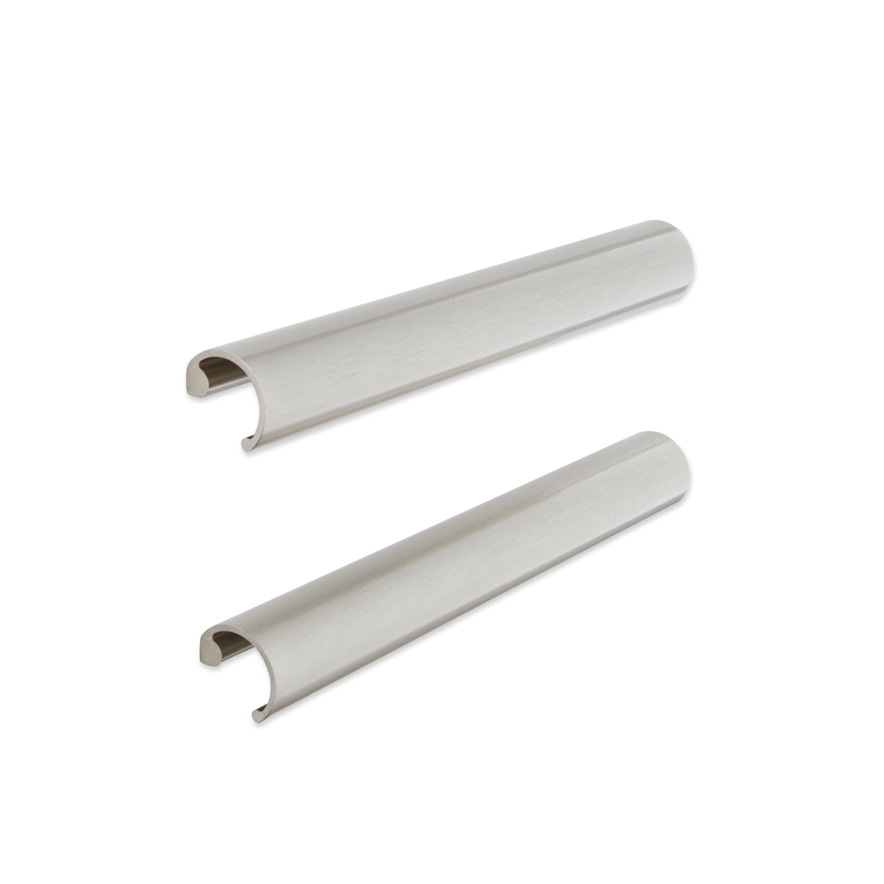 Cooke & Lewis Brushed Nickel Effect Curved Cabinet Handle, Pack Of 2